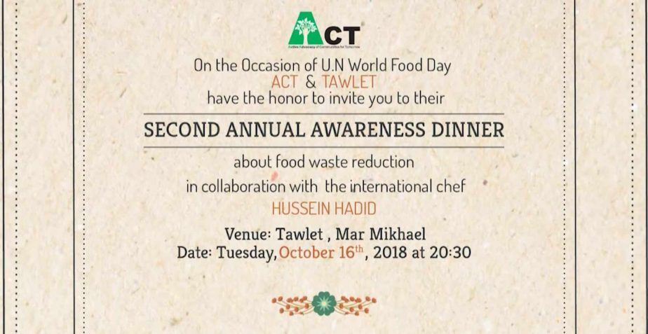 UN WORD FOOD DAY DINNER 2018